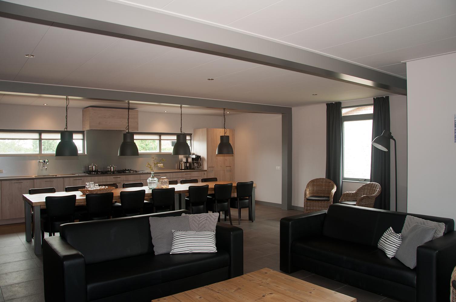 Zilvermeeuw woonkamer keuken stee aan zee